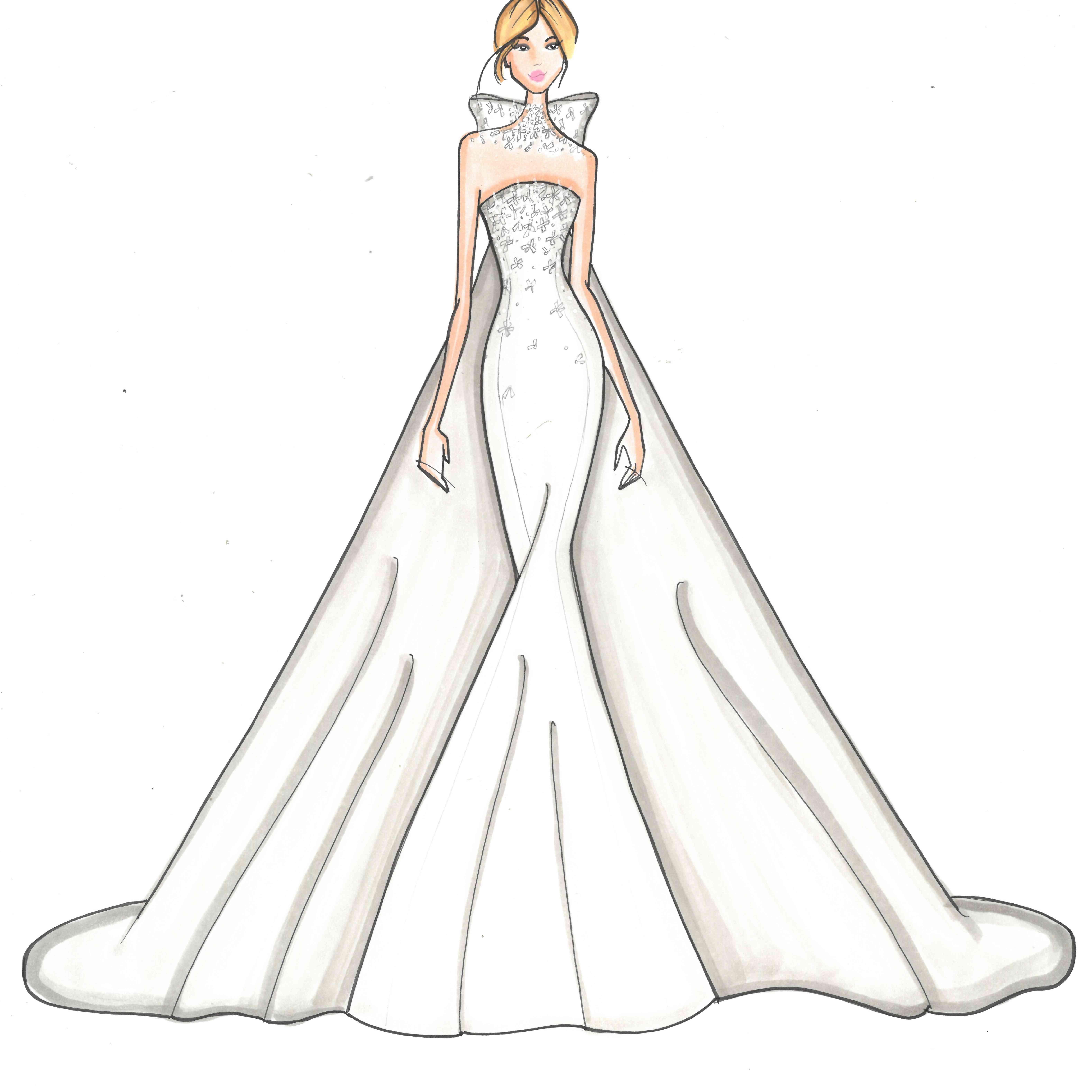 Allison Webb Bridal Fashion Week Fall 2020 Sketch