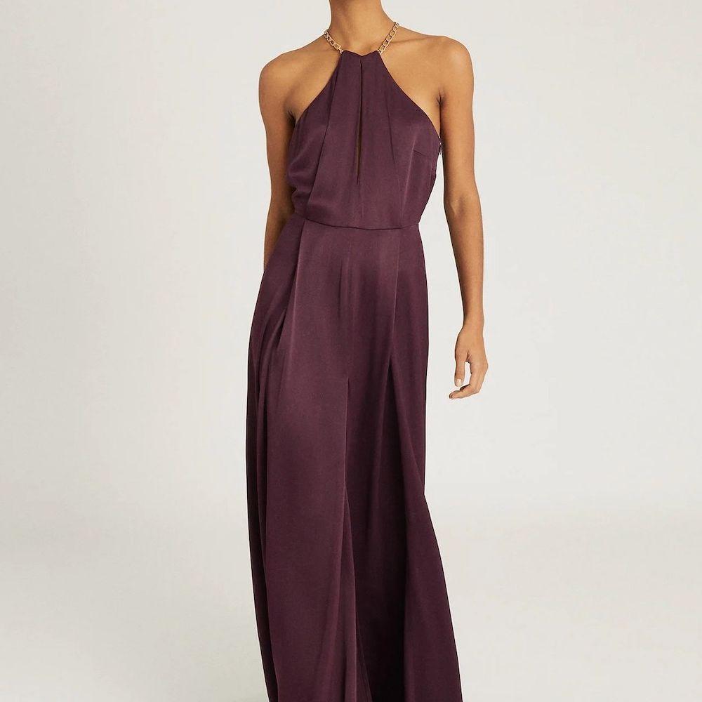 Reiss Anne Chain Detail Maxi Dress