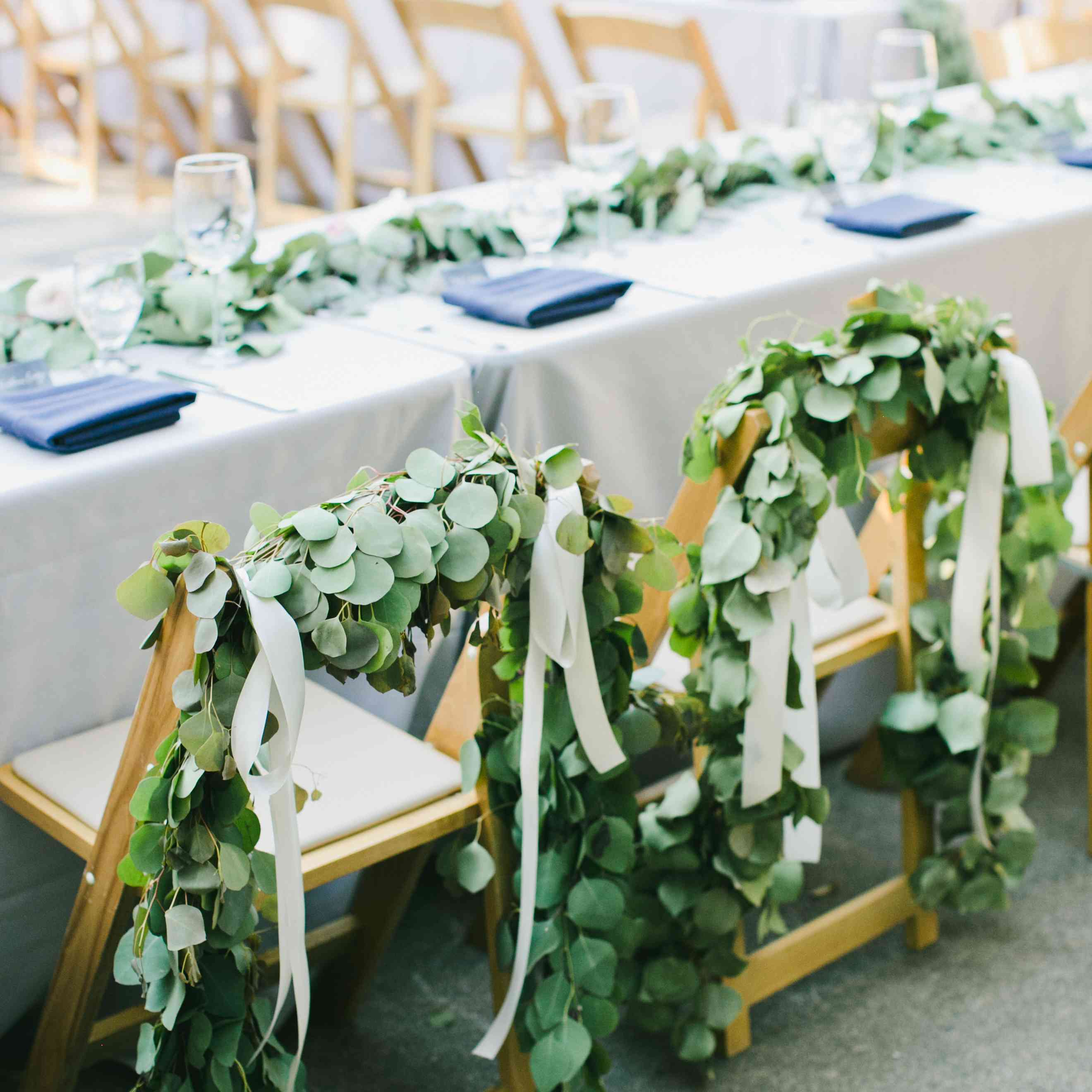 Greenery-accented chairs