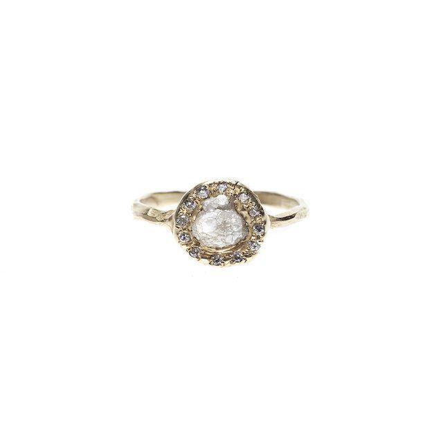 Emilie Shapiro Rough Diamond Halo Ring