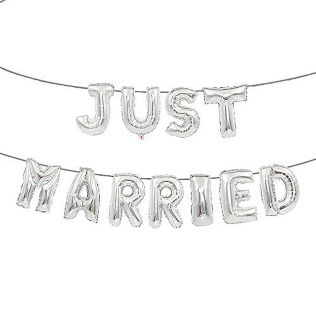 Just Married Foil Balloons