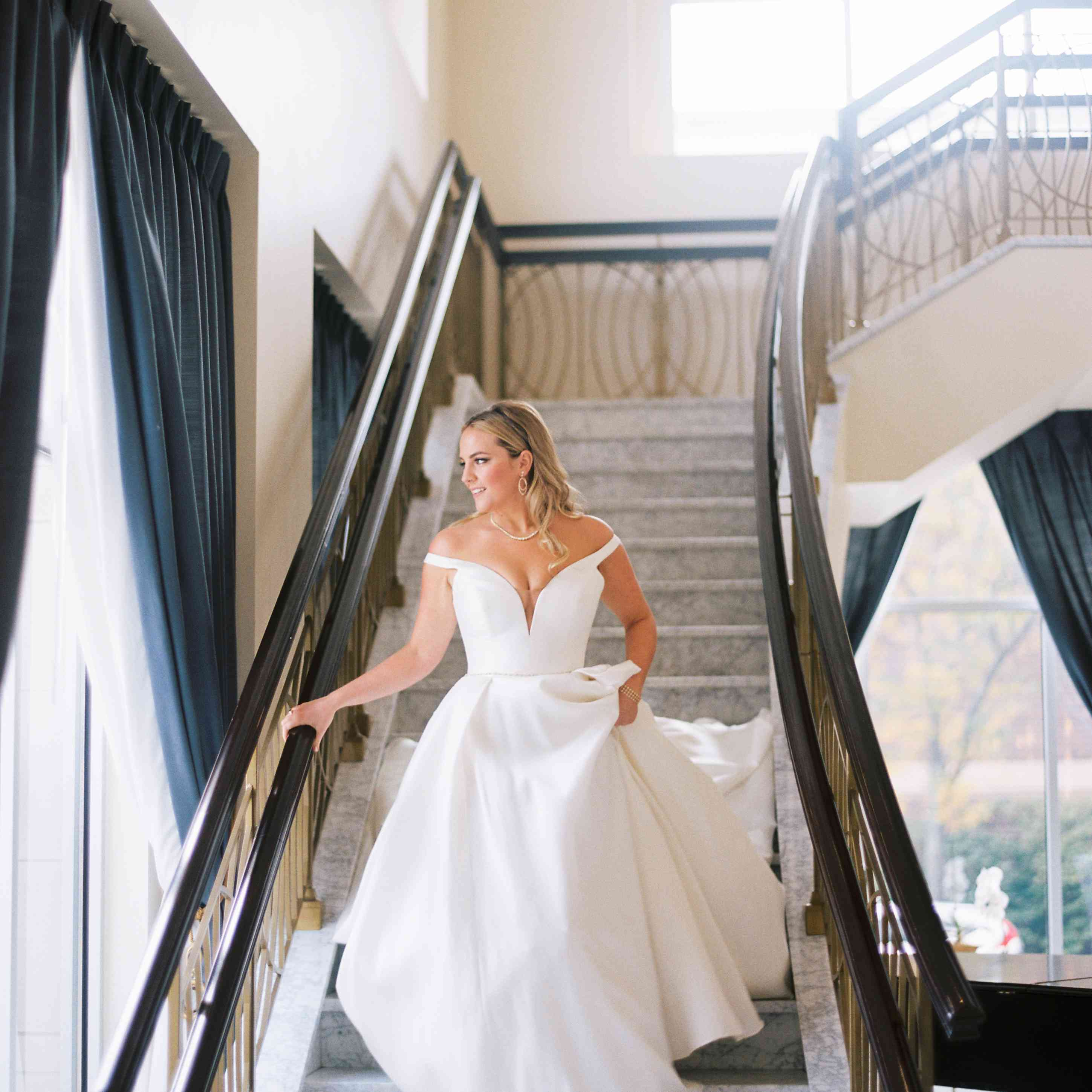 The bride on her wedding day