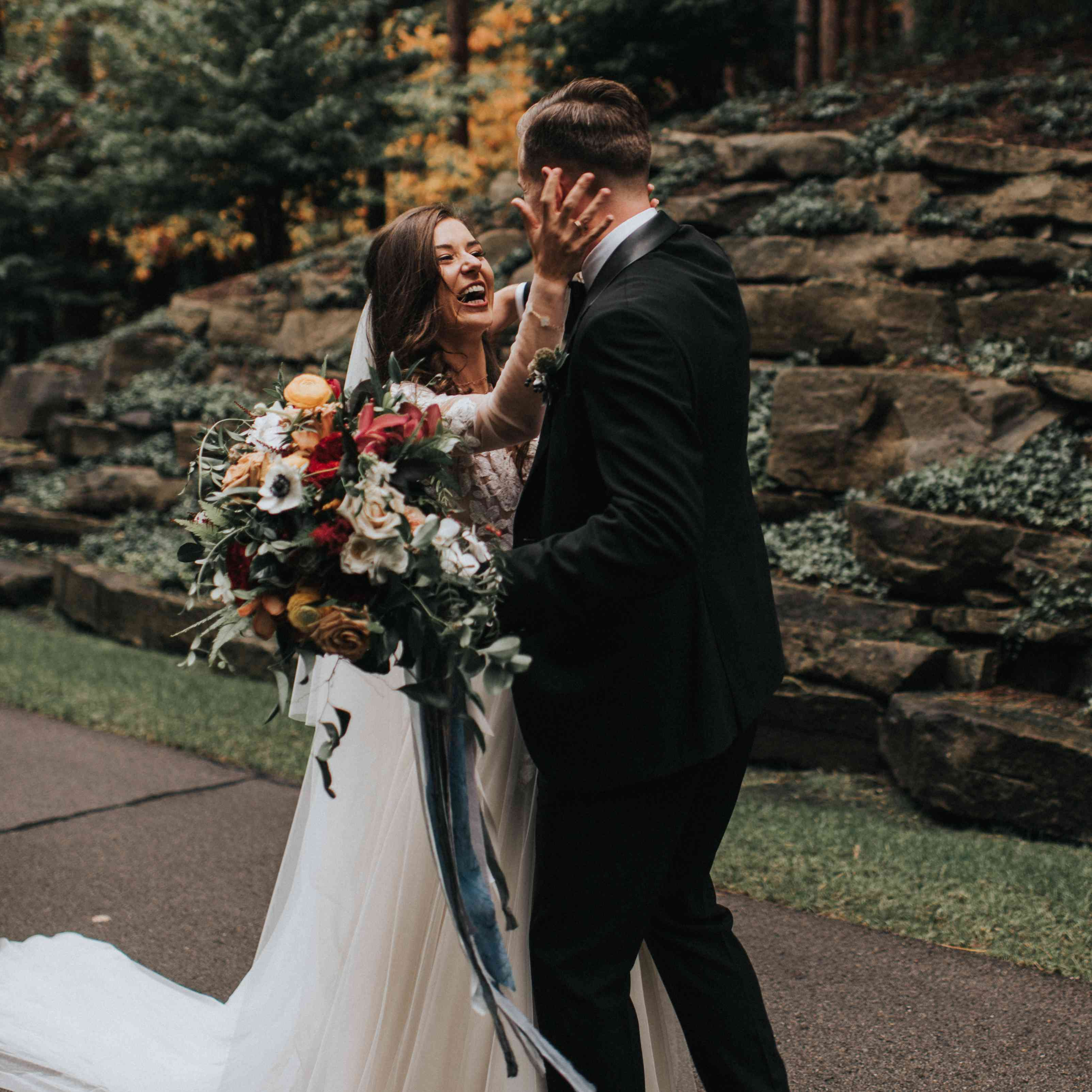 personalized michigan wedding, first look