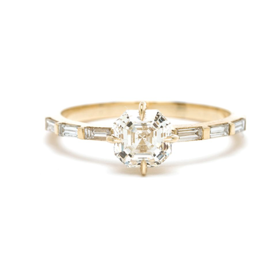 Sofia Zakia Cosima Asscher Cut Engagement Ring