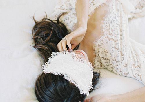 bride sleeping