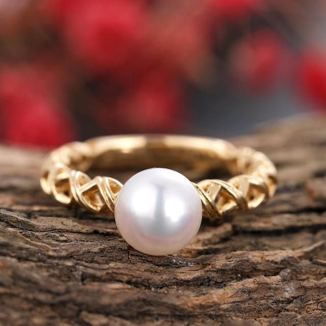 Etsy Pearl Engagement Ring