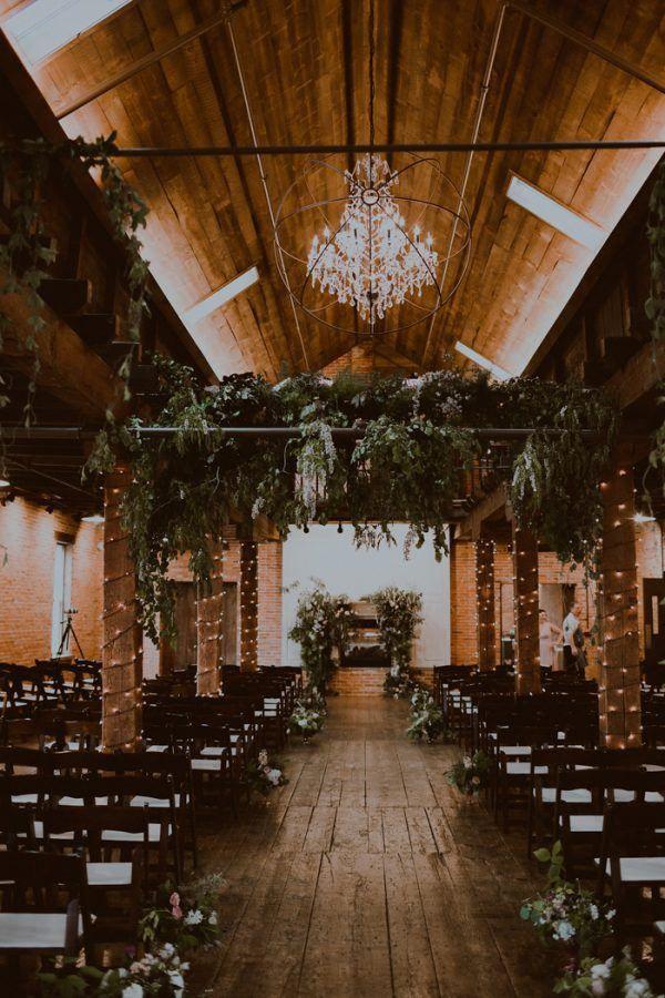 Cozy wood wedding ceremony