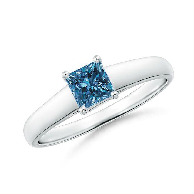 Angara Blue Diamond Ring