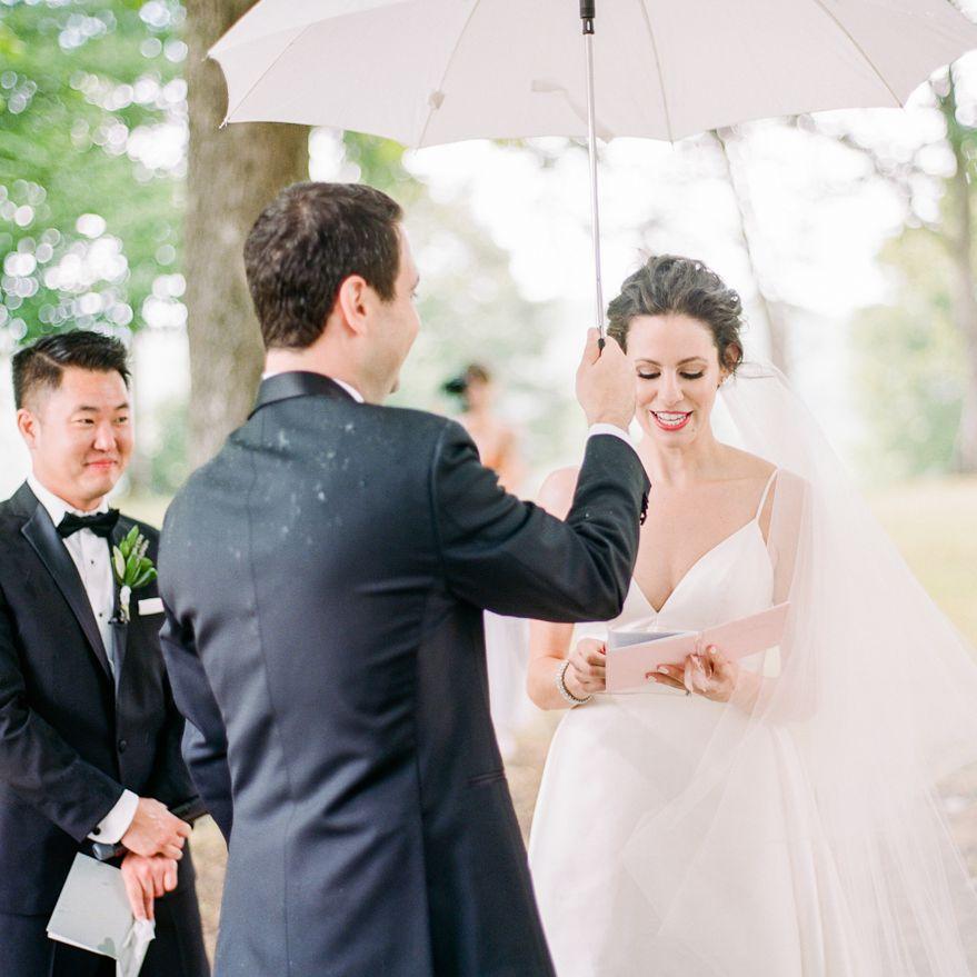 <p>rain during ceremony</p><br><br>