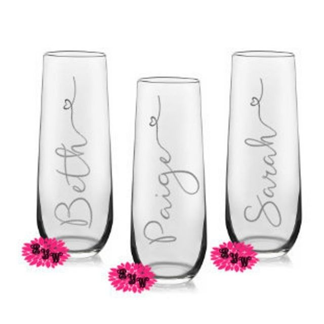 Engraved Your Way Engraved Champagne Glass