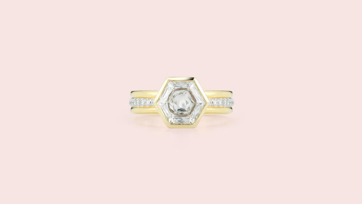 38 Hexagon Engagement Rings For The Alternative Bride