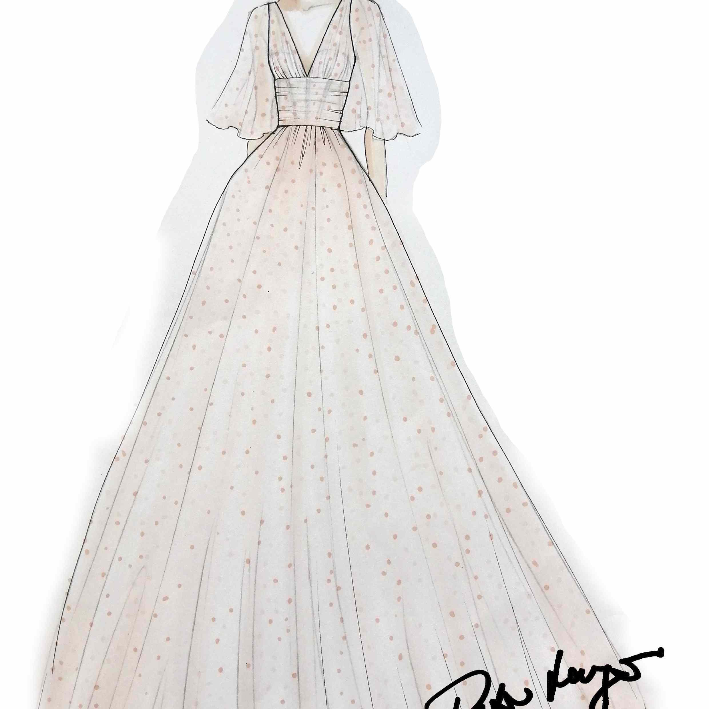 Peter Langner Bridal Fashion Week Fall 2020 Sketch