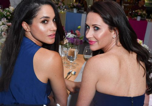 <p>Actress Meghan Markle and Jessica Mulroney attend a dinner in Toronto, Canada.</p>