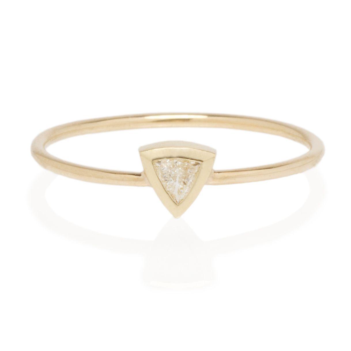 Zoë Chicco 14K Trillion Diamond Ring