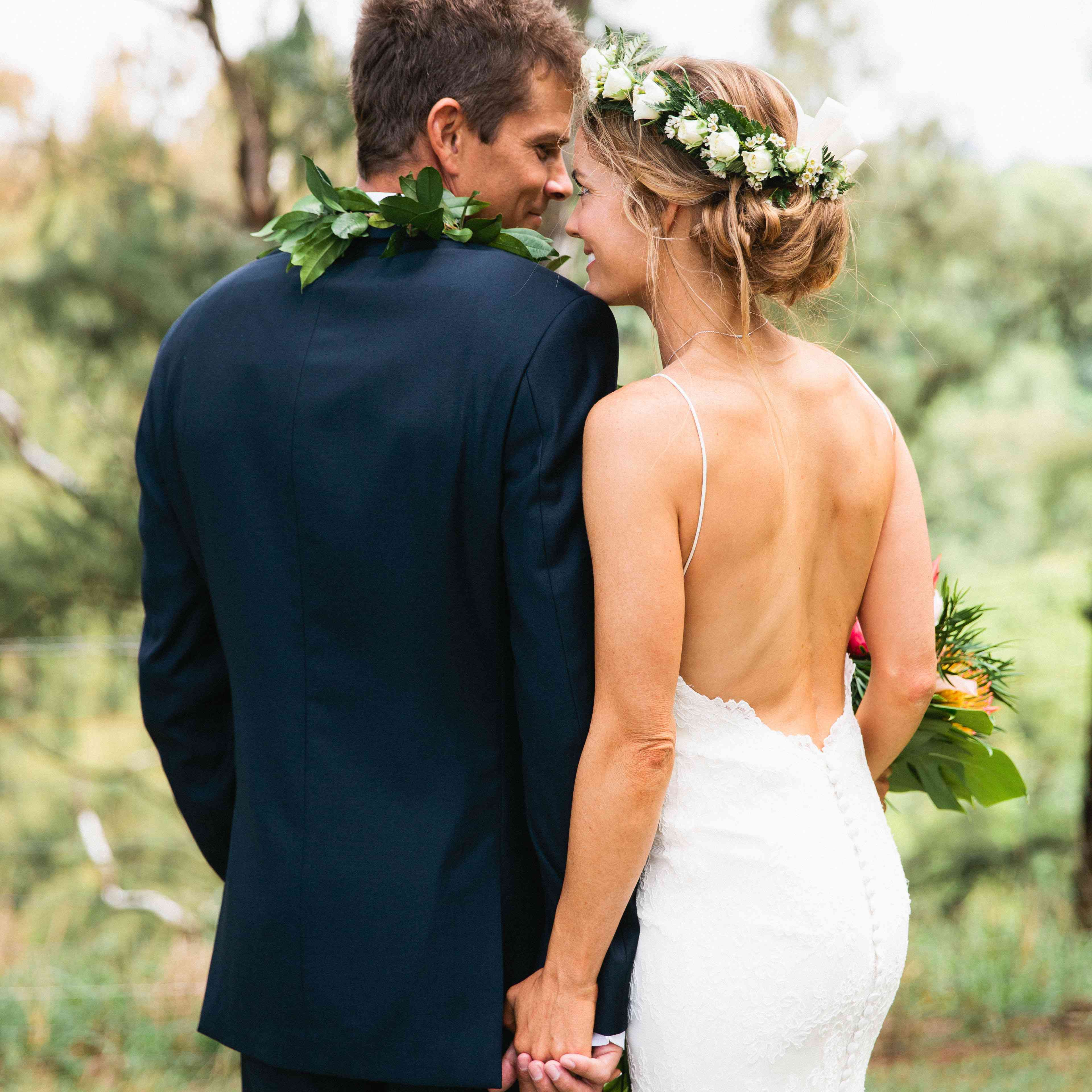 17 Real Brides Who Wore Swoon-Worthy Backless Wedding Dresses