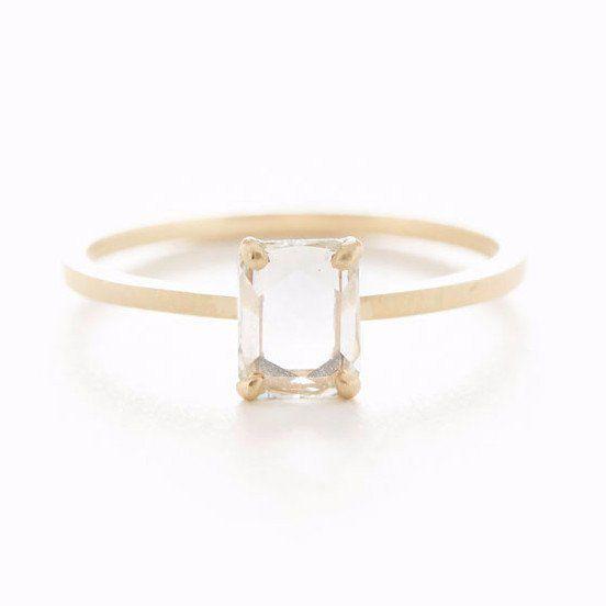 Jennifer Dawes Dreamy Rose Cut Diamond Ring