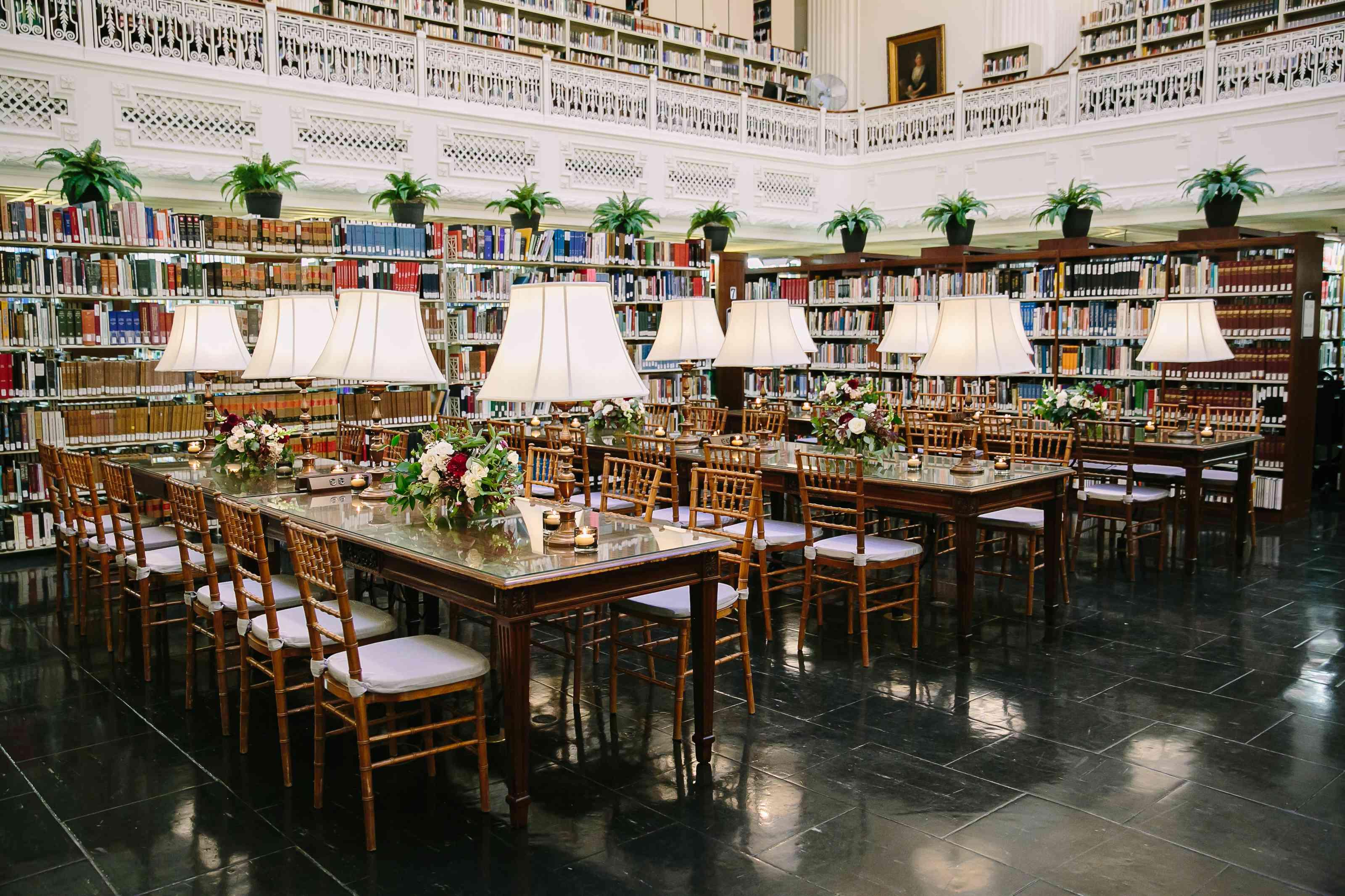 Library reception venue