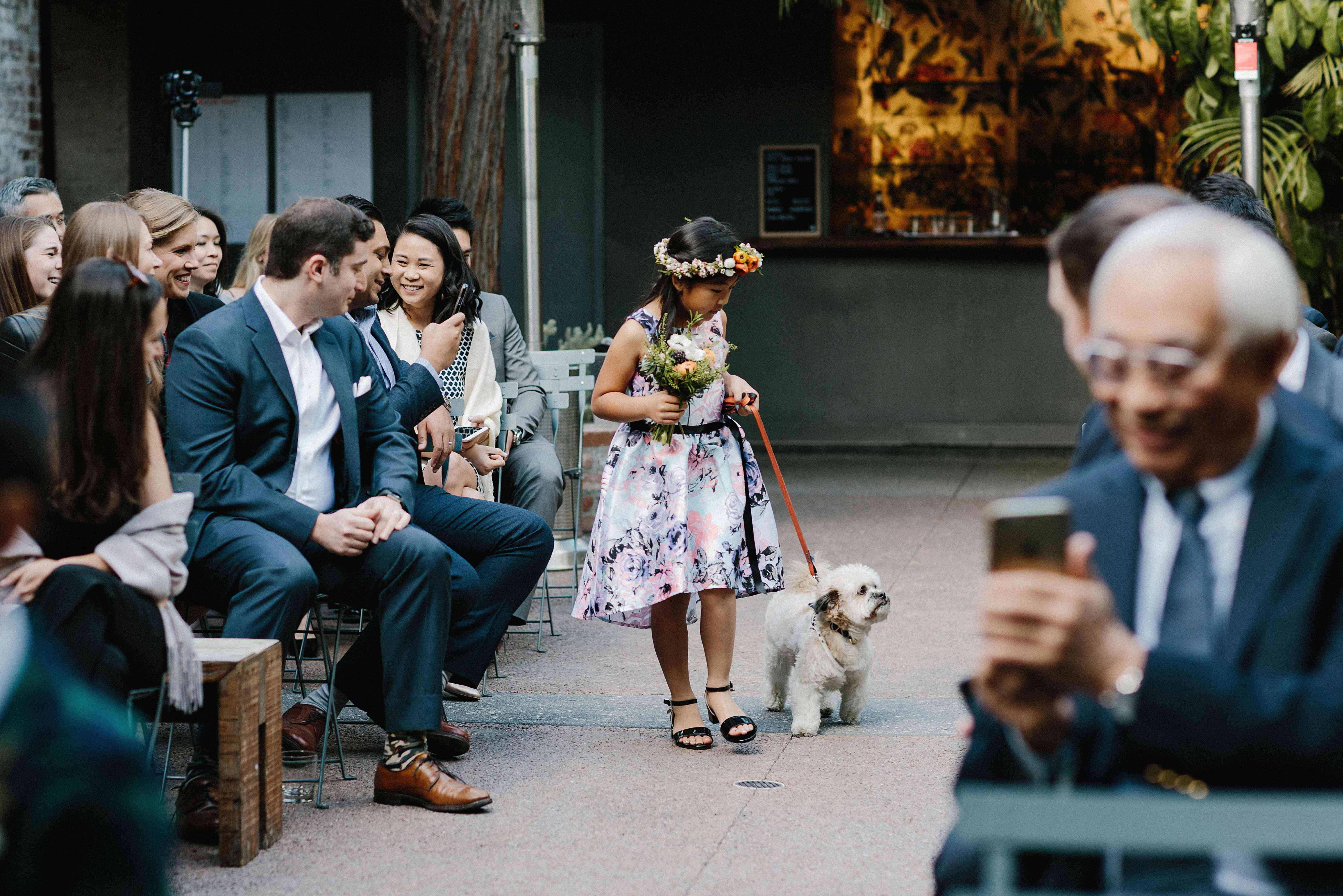 <p>Flower girl with dog</p><br><br>