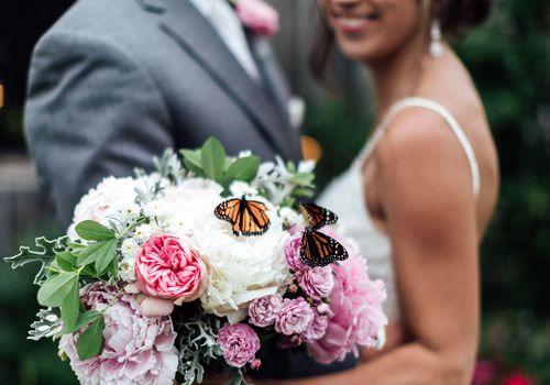 bouquet with butterflies