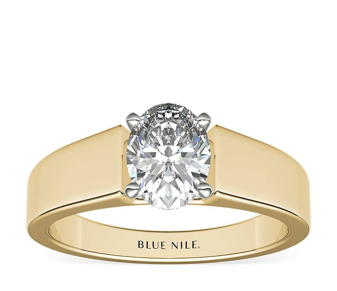 Blue Nile Wide Band Solitaire Engagement Ring