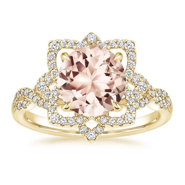 Brilliant Earth Morganite Lily Diamond Ring