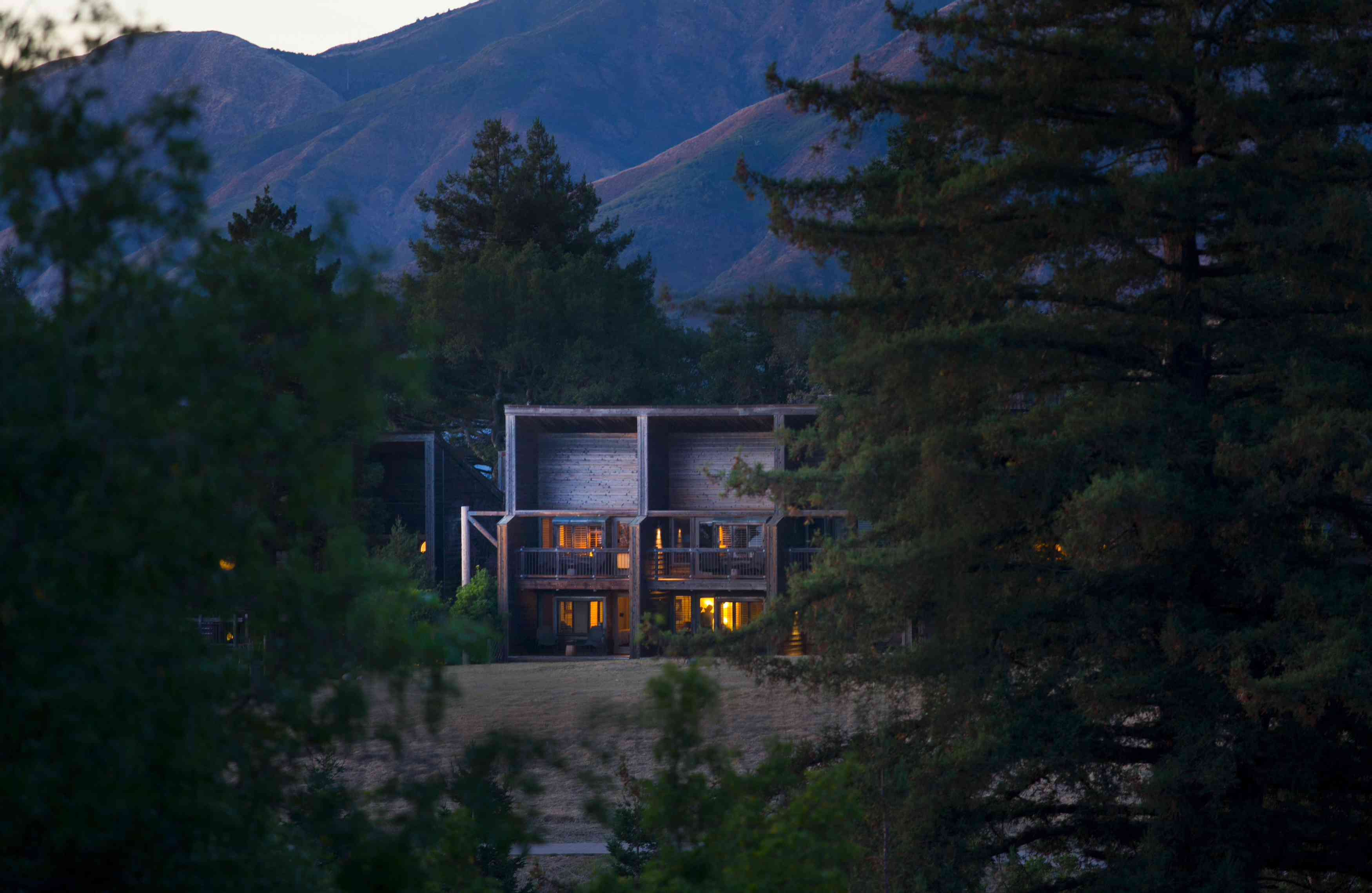 Exterior view of the accommodations at Alila Ventana Big Sur