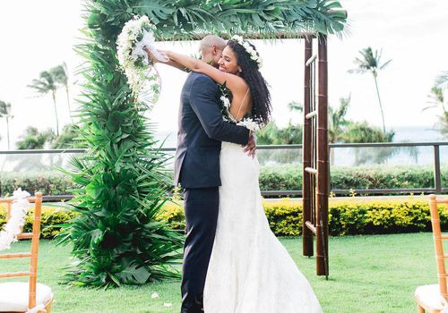 A real wedding at the Four Seasons Maui at Wailea in Hawaii