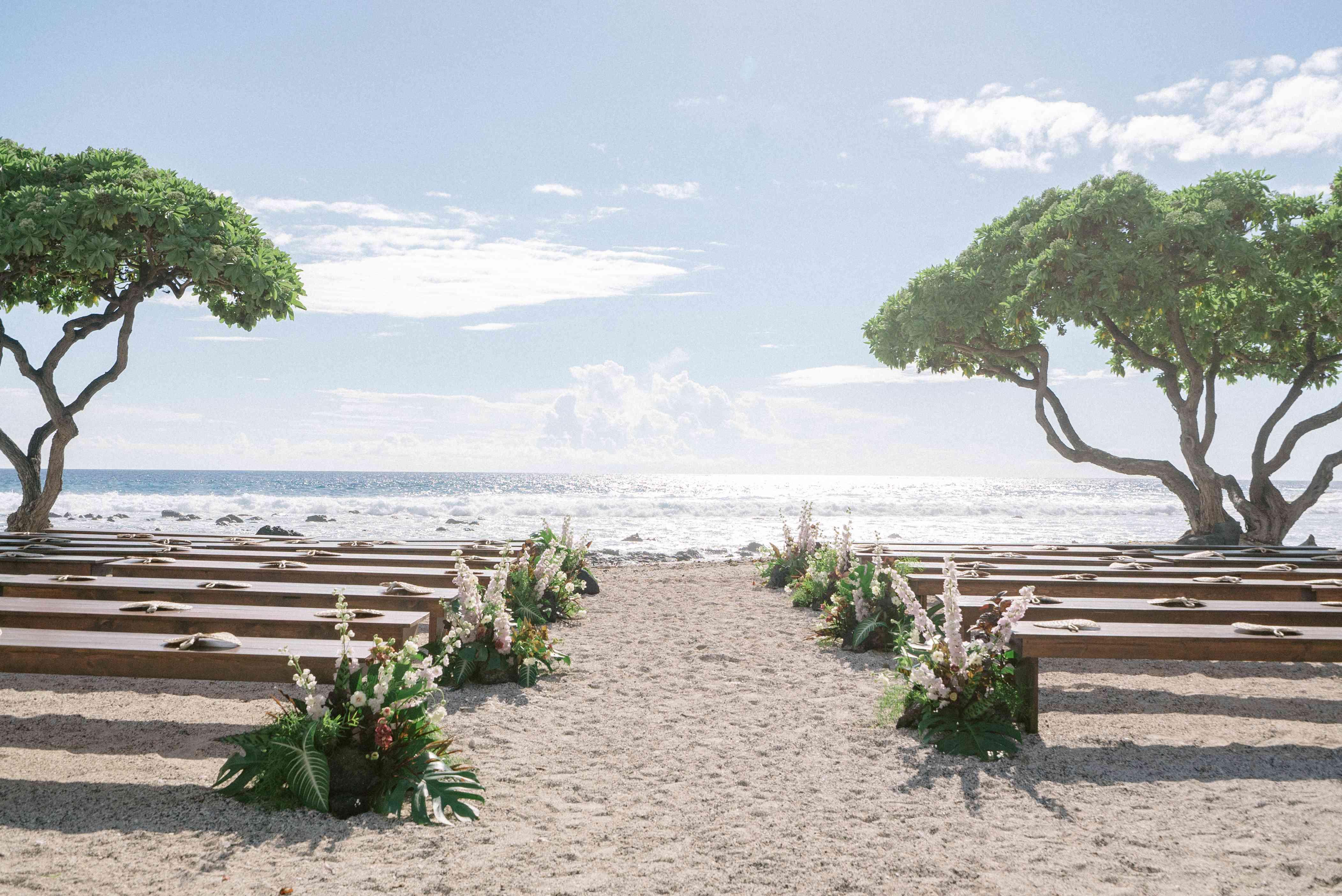 Ceremony venue overlooking the ocean
