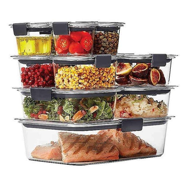 Rubbermaid Brilliance 22-Piece Food Storage Container Set