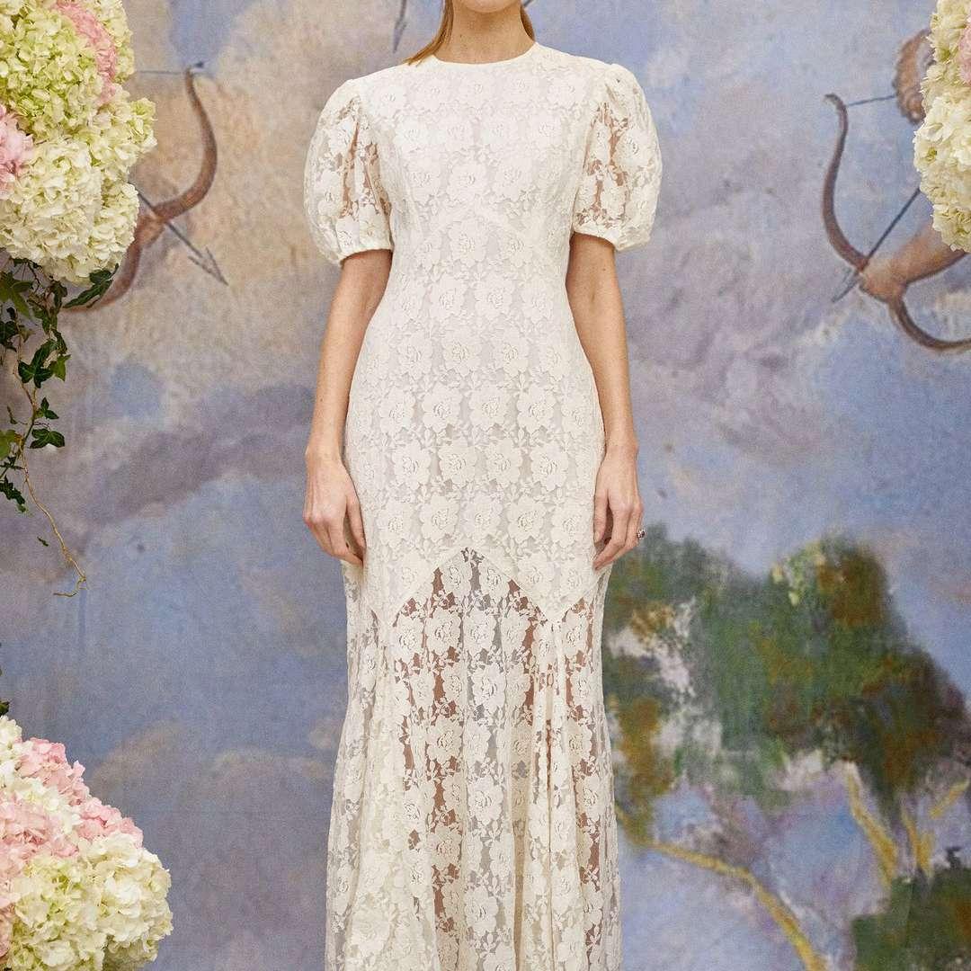 Rixo Louella Floral Lace Wedding Dress