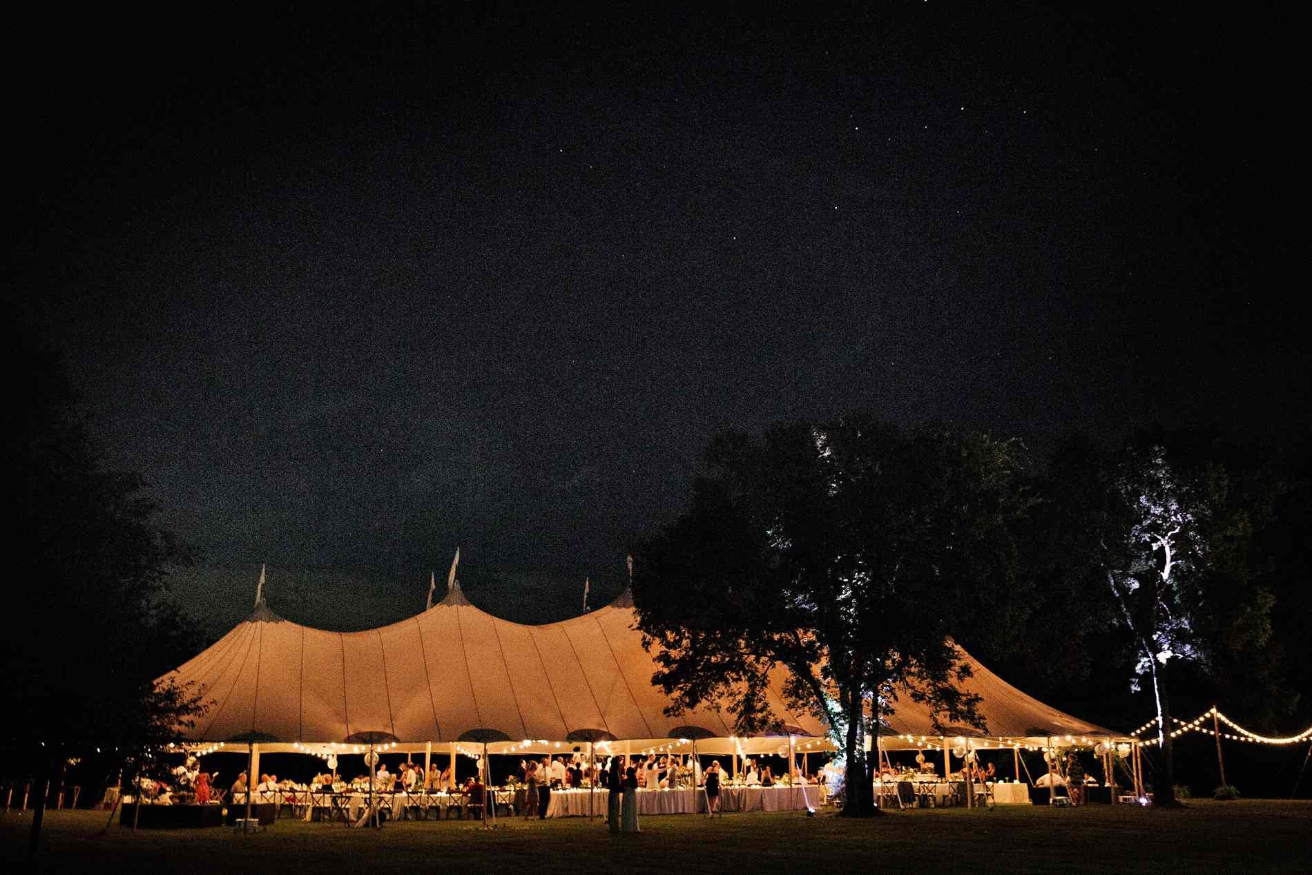 Reception venue at night