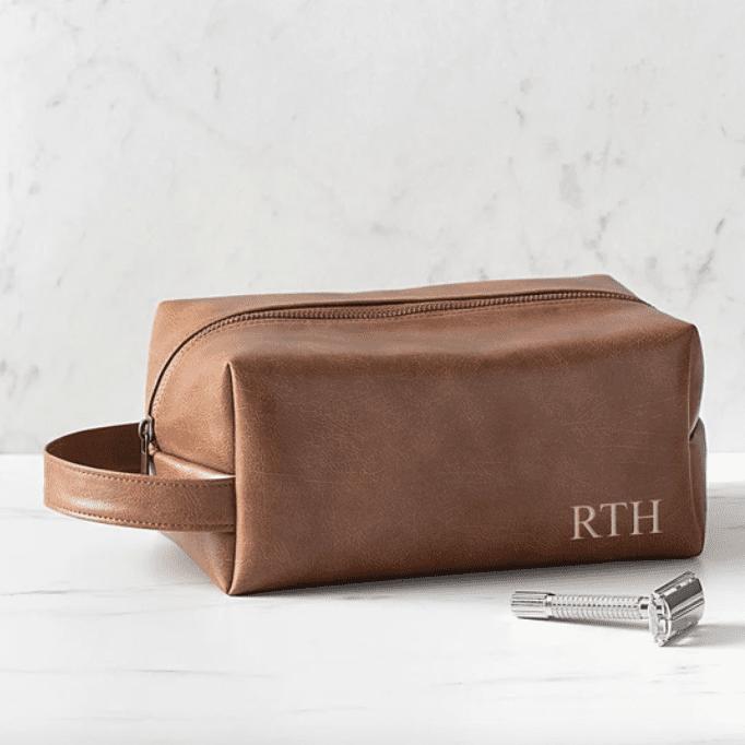 Groomsday Personalized Vegan Leather Dopp Kit