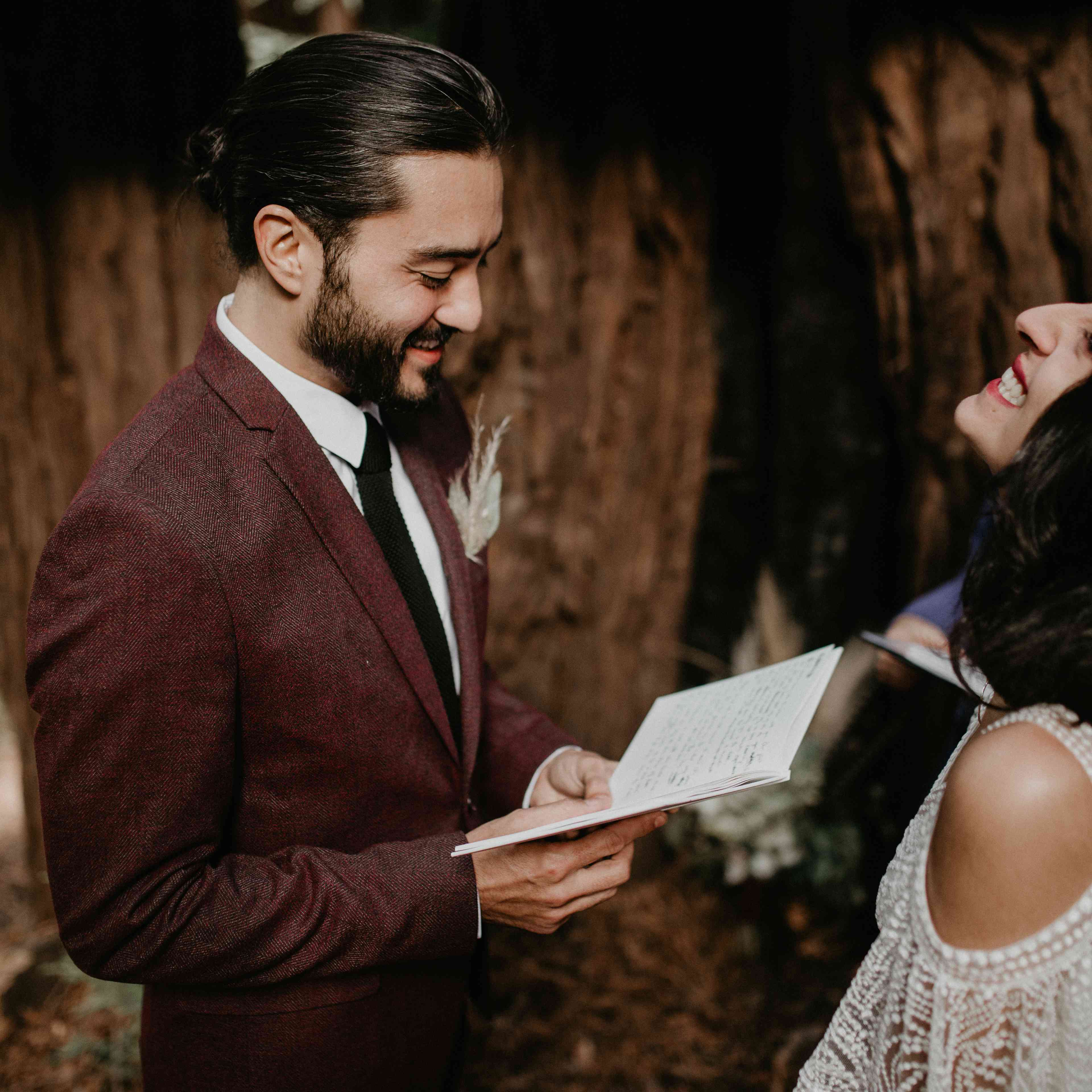 laughing and reading vows funny vows