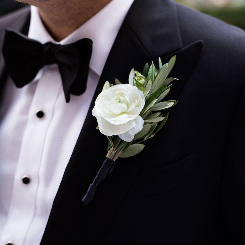 man with boutonniere