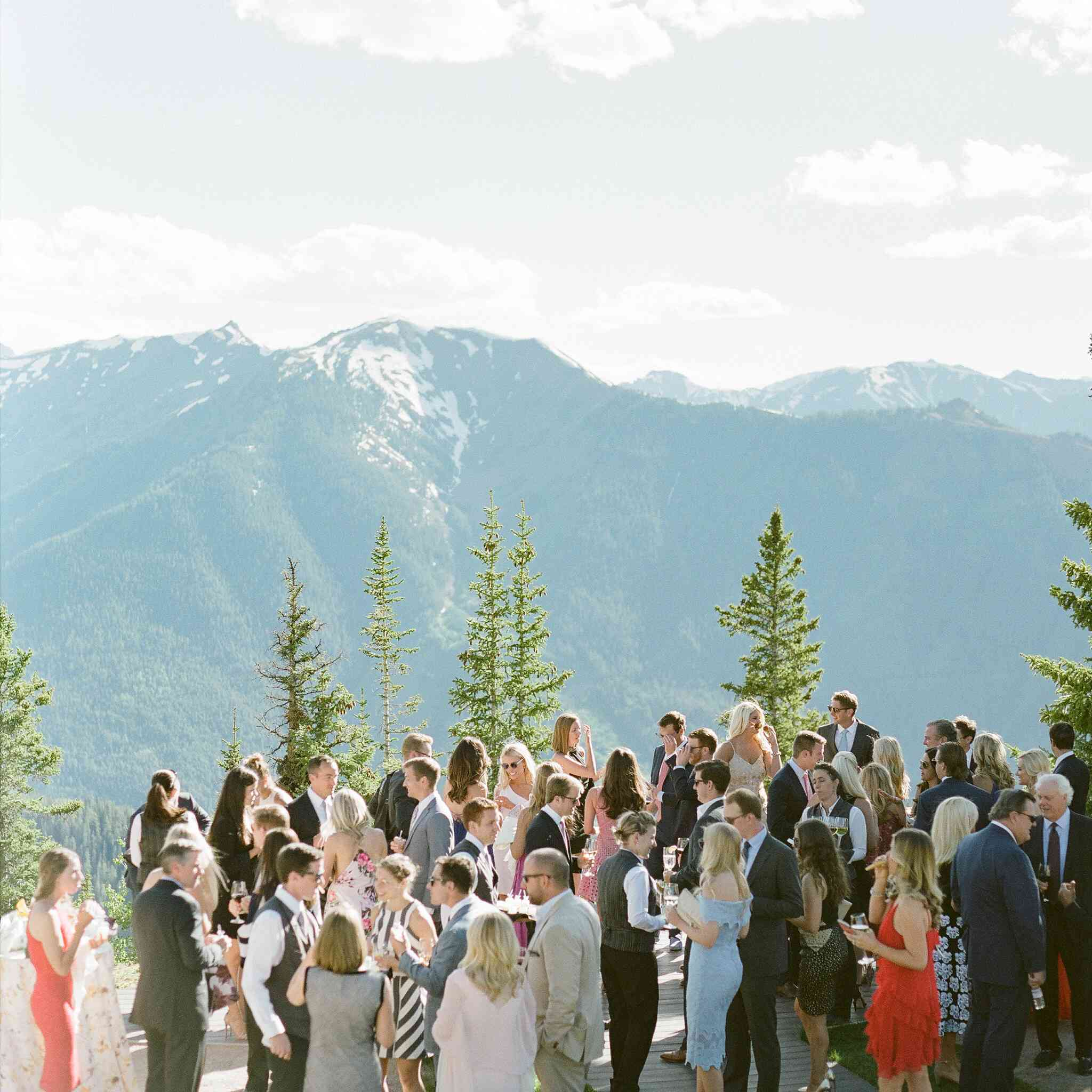 Guests at mountain reception