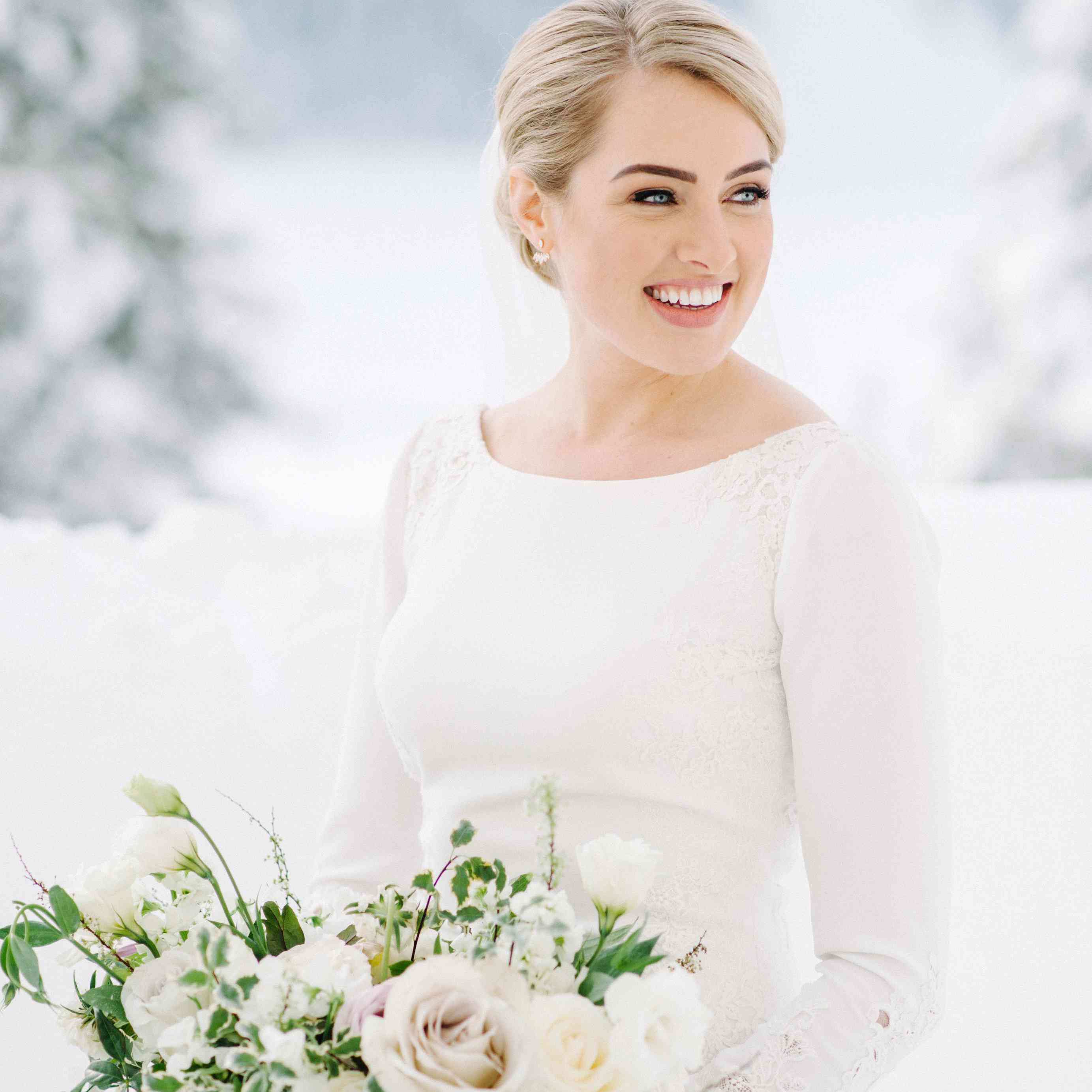 Bridal portrait in winter