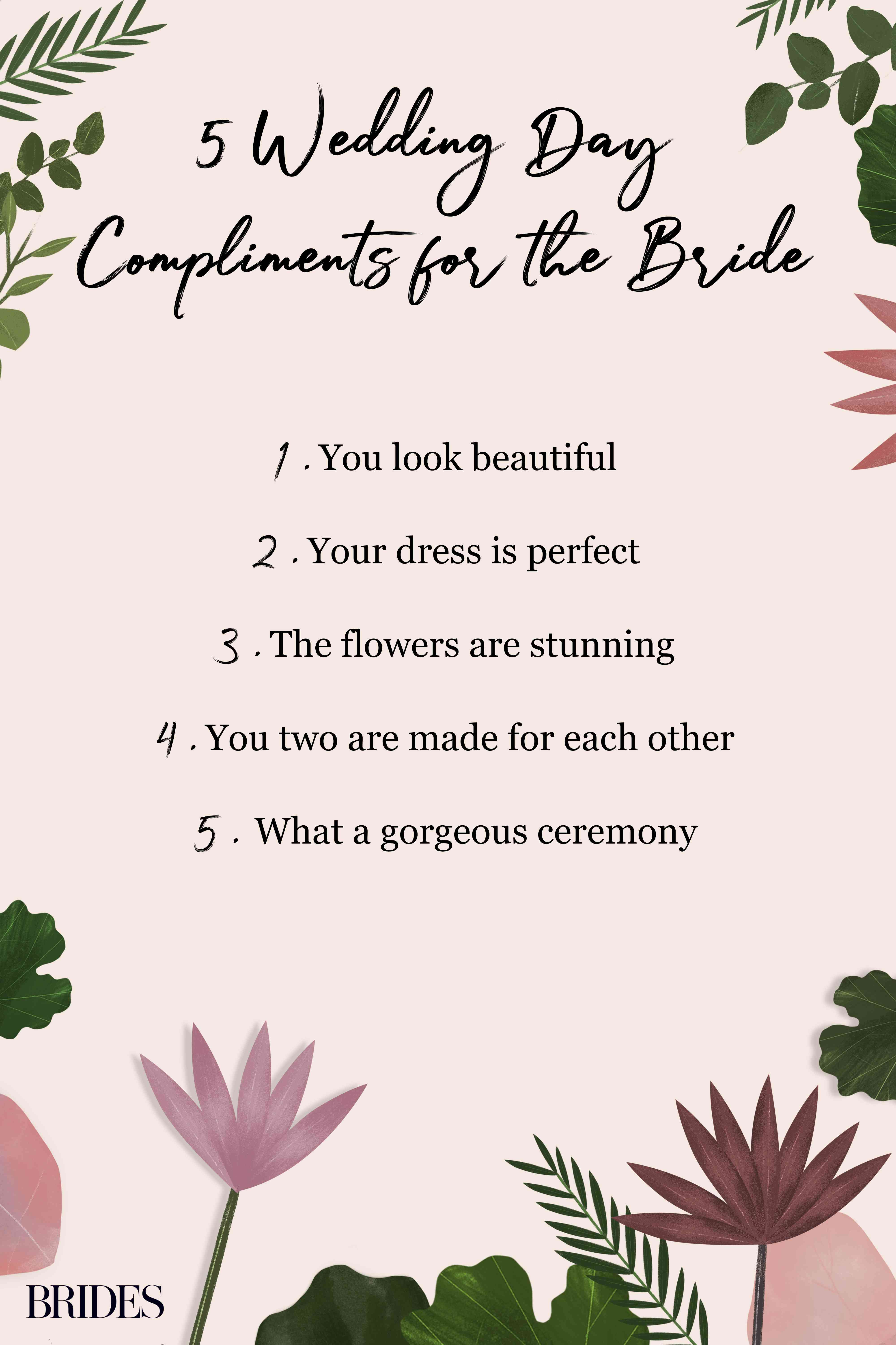 wedding day compliments