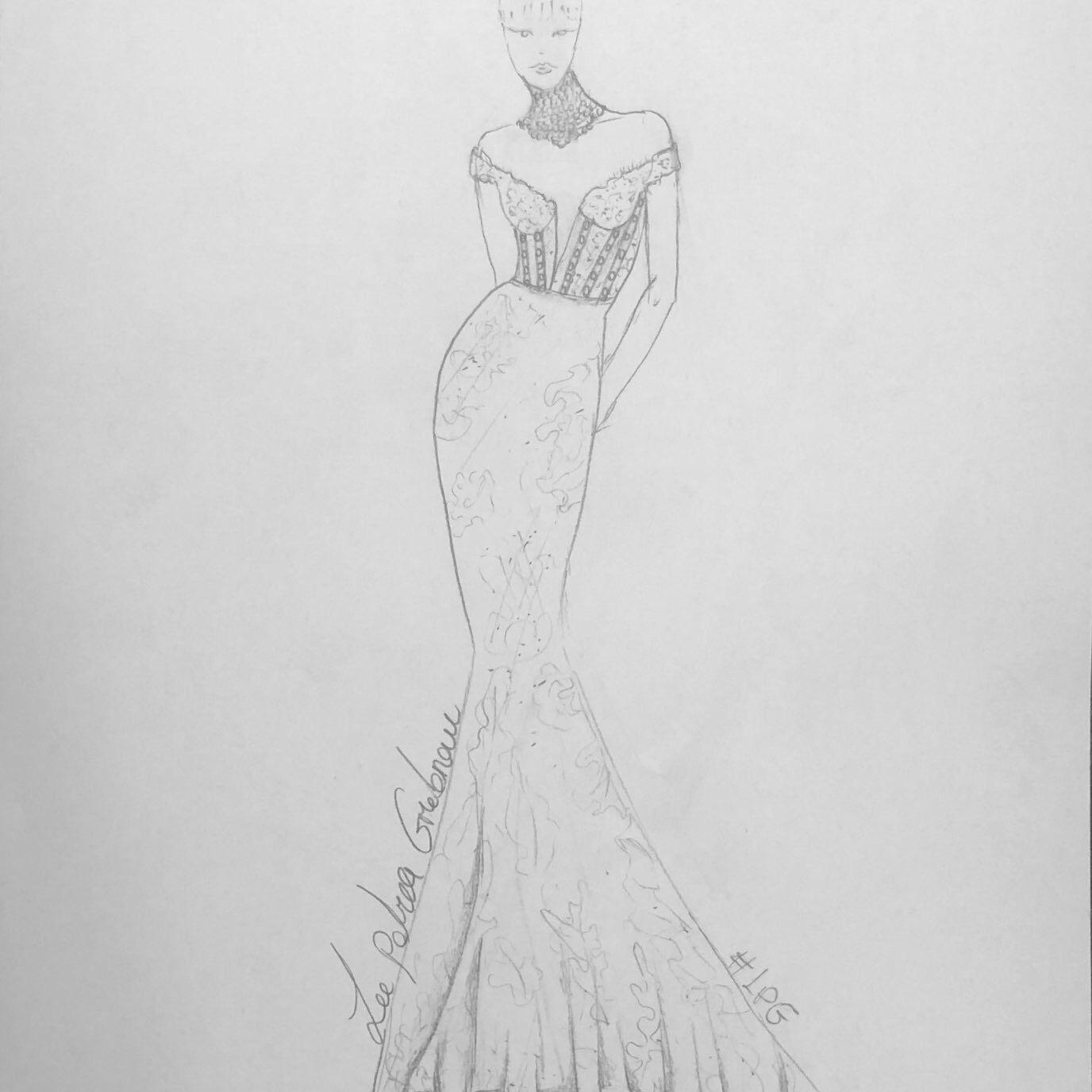 Lee Petra Grebenau Bridal Fashion Week Fall 2020 Sketch