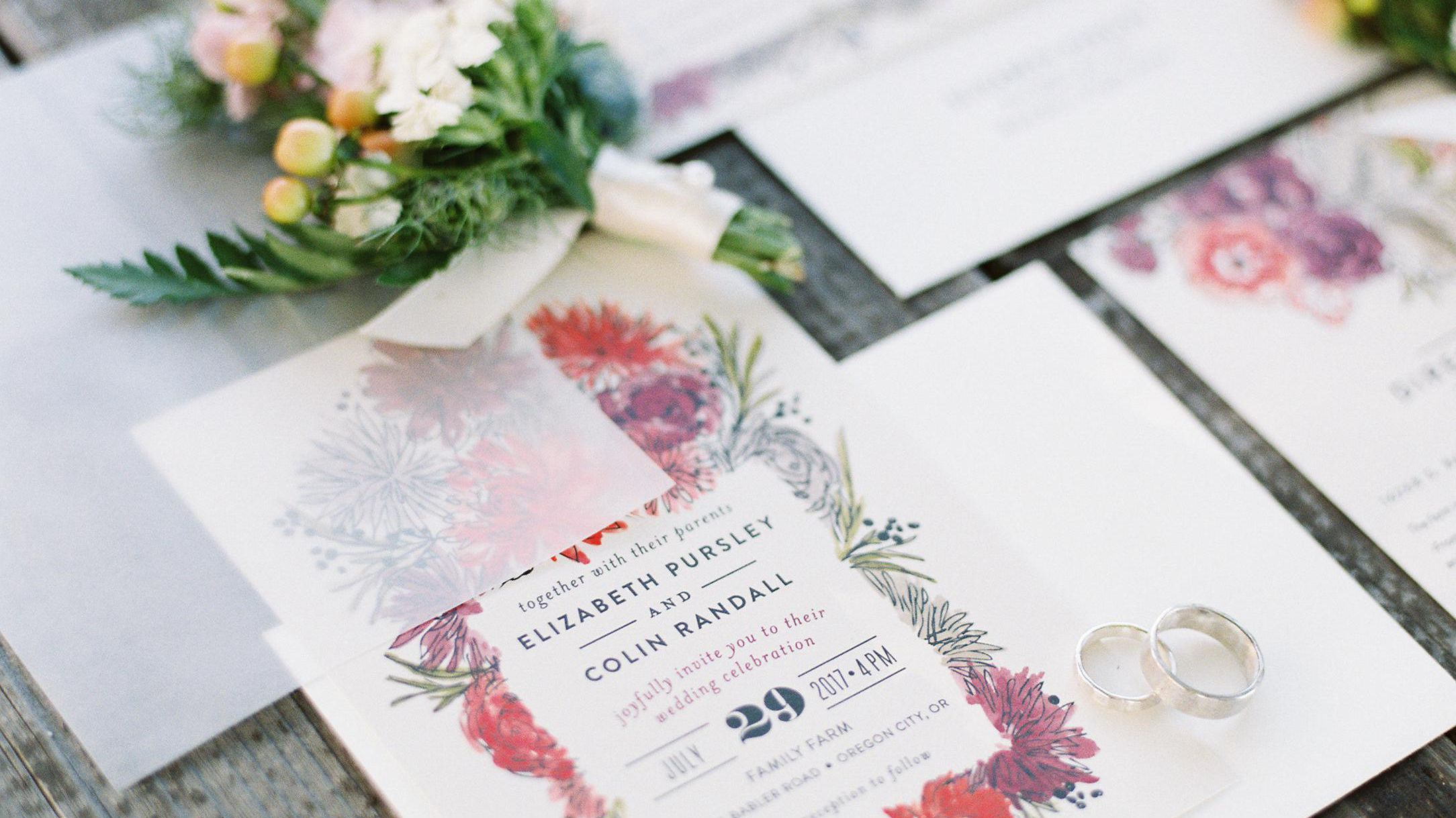 wedding invitations mail info brides
