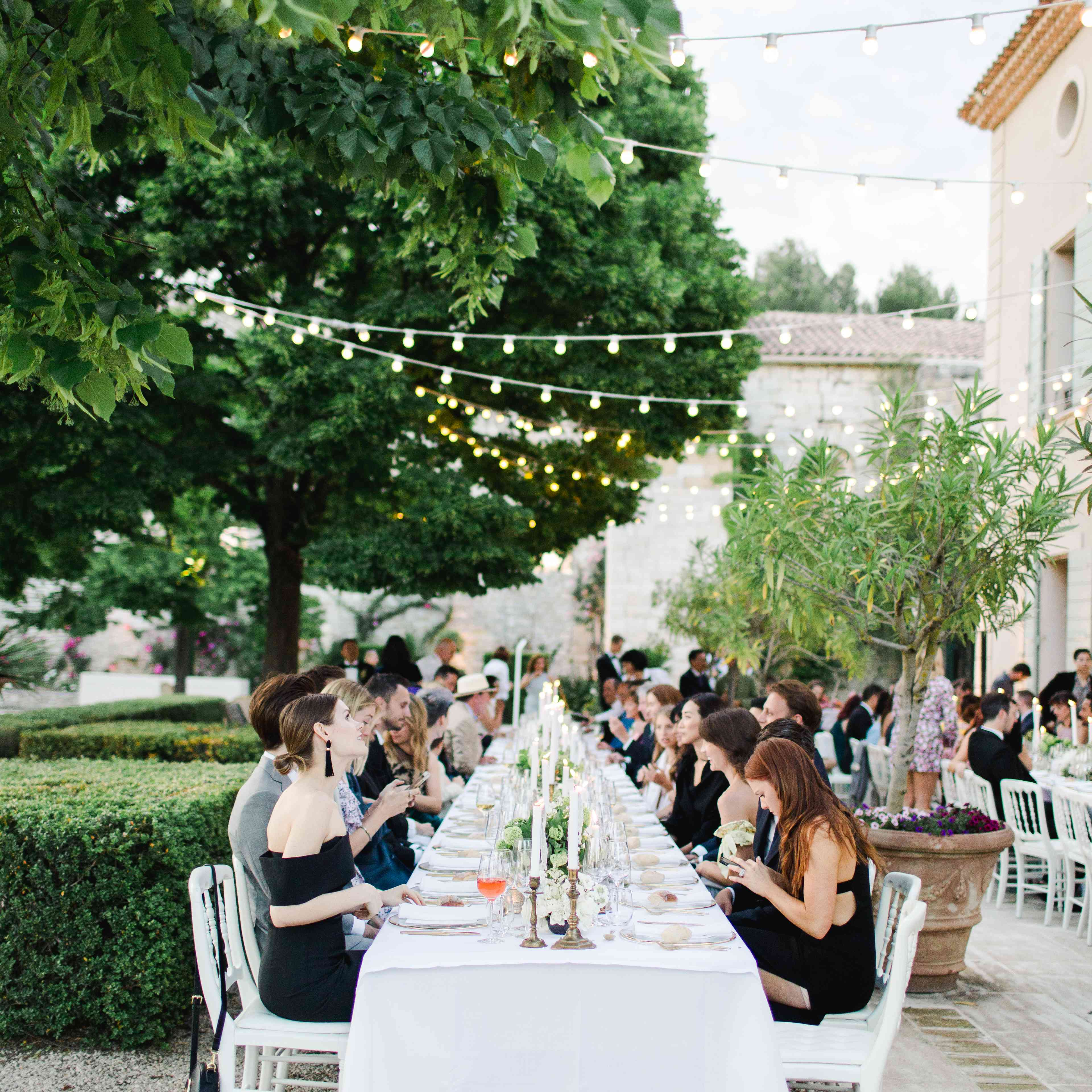 guests wedding reception