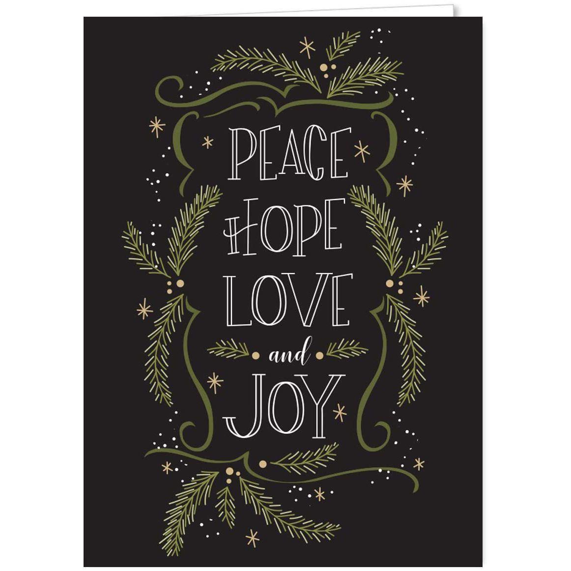 Amazon Christmas Pines Typography Christmas Holiday Card Assortment