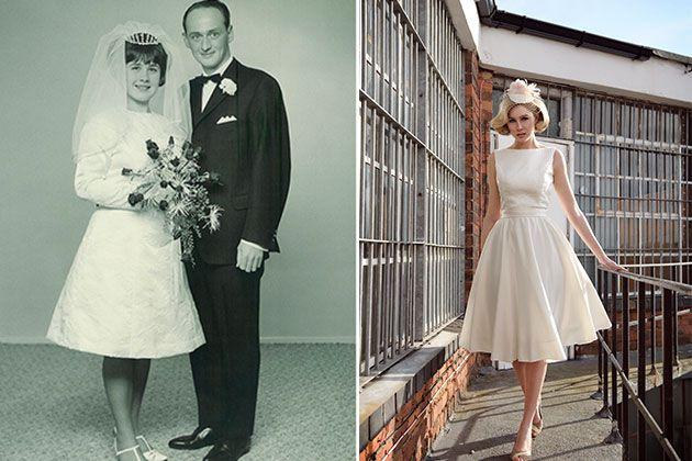1960s wedding dress made modern