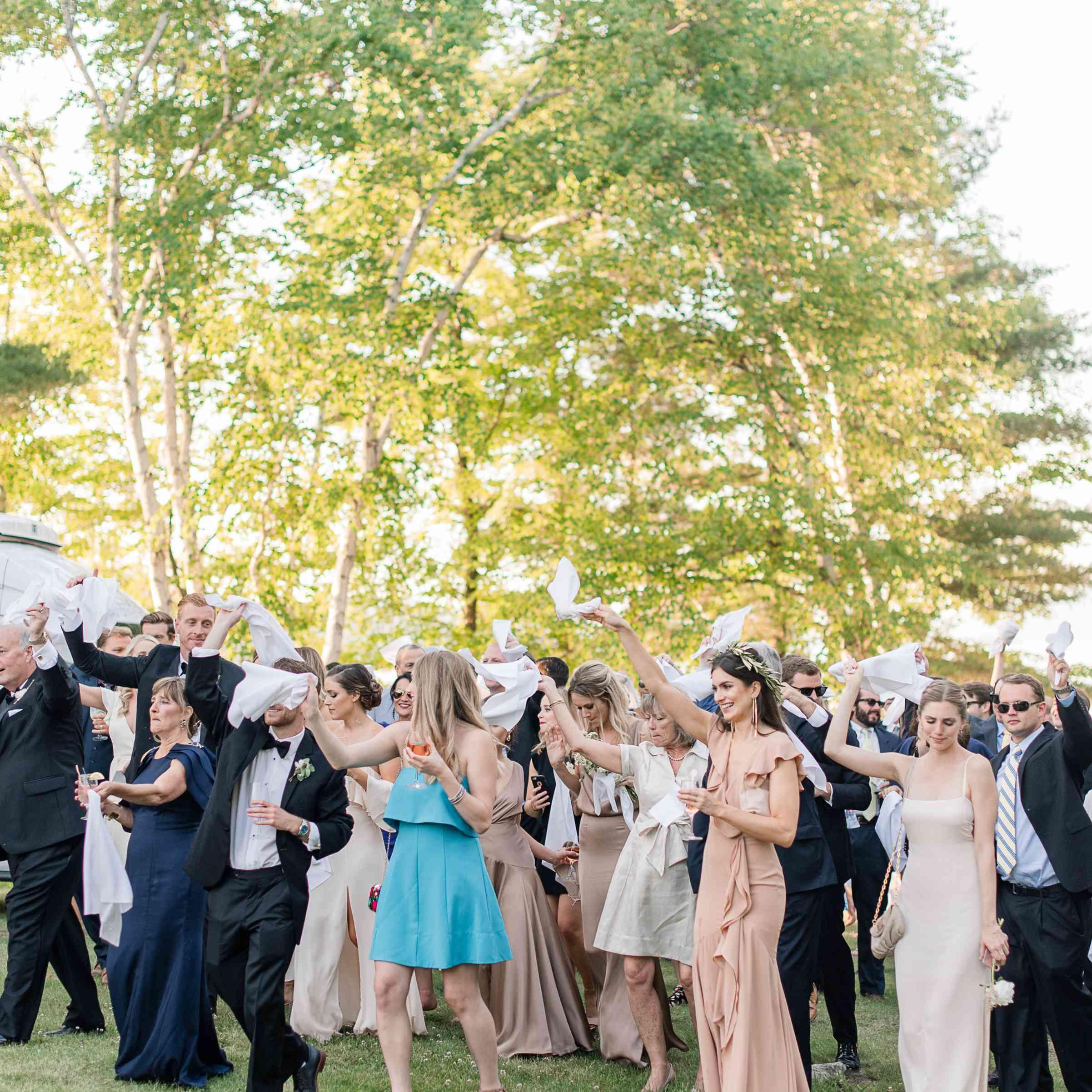 <p>Wedding party with handkerchiefs</p><br><br>