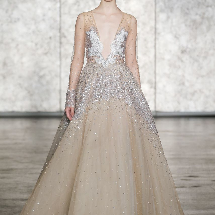Color Wedding Gown: 20 Champagne Wedding Dresses For The Bride Who Wants