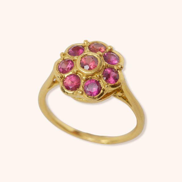 Donna Distefano Ballerina Sunflower Engagement Ring