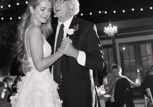 Bride and her father dancing at her wedding