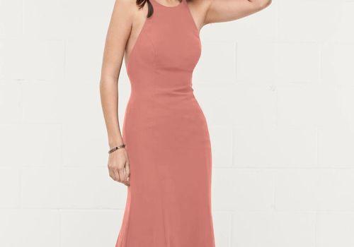 Coral bridesmaid dress