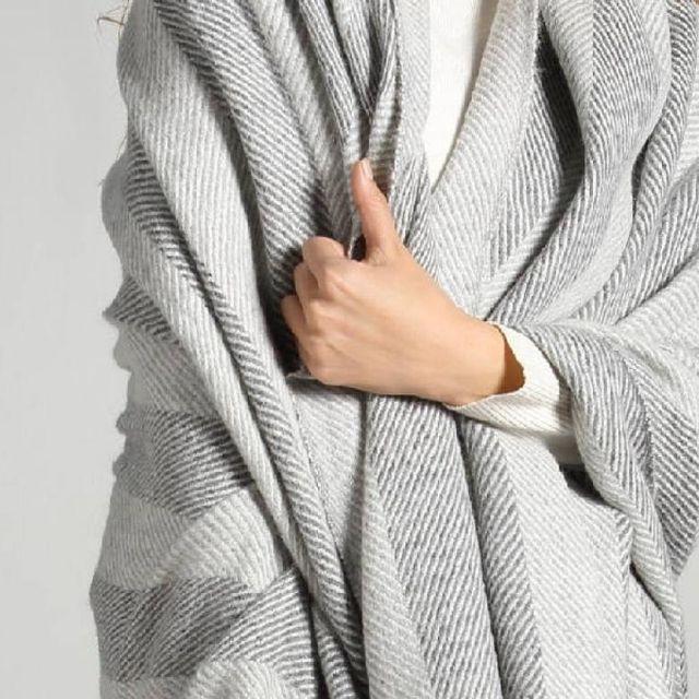 Premium Herringbone Woven Baby Alpaca Throw Blanket