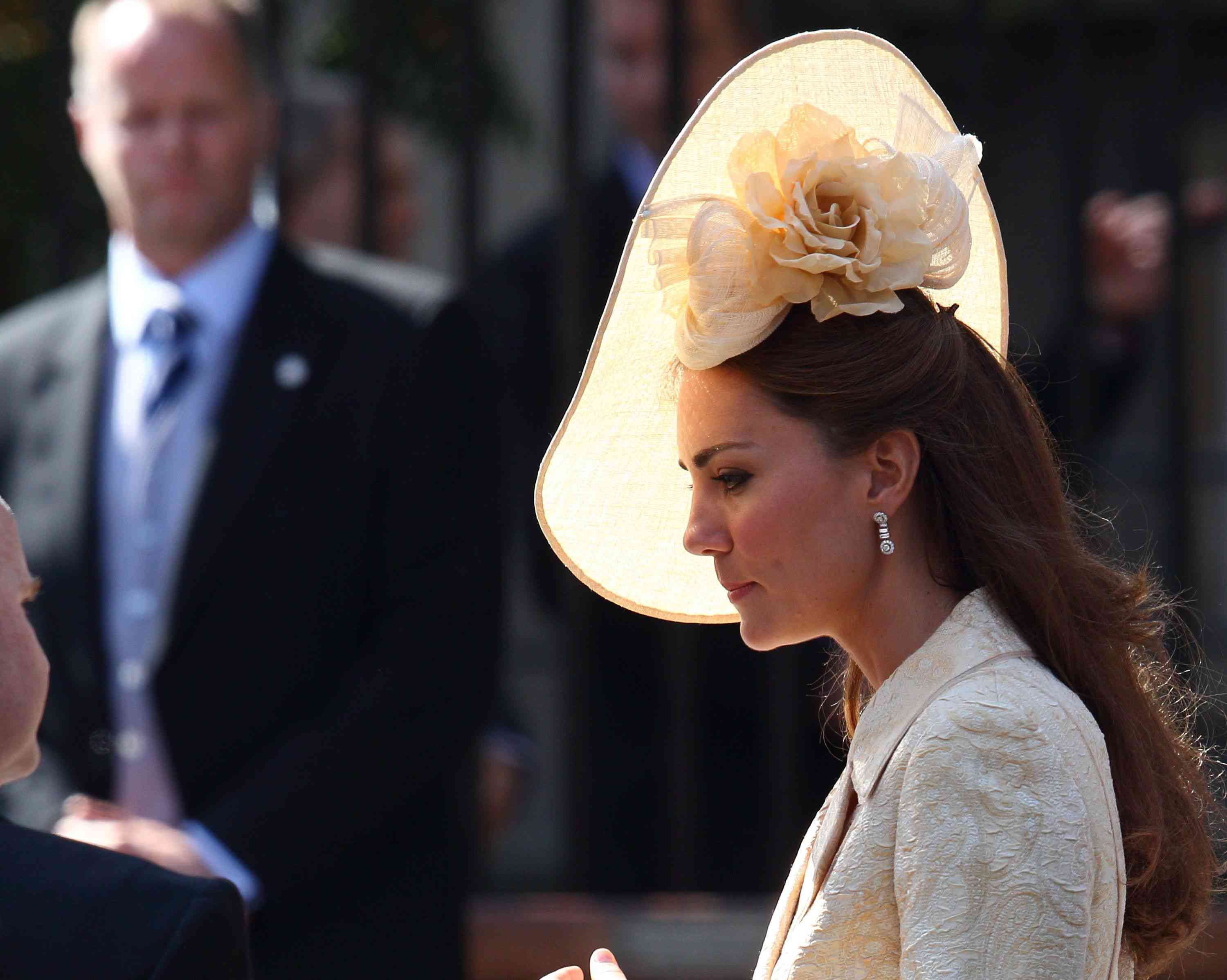 Kate Middleton departs for the Royal wedding of Zara Phillips and Mike Tindall at Canongate Kirk