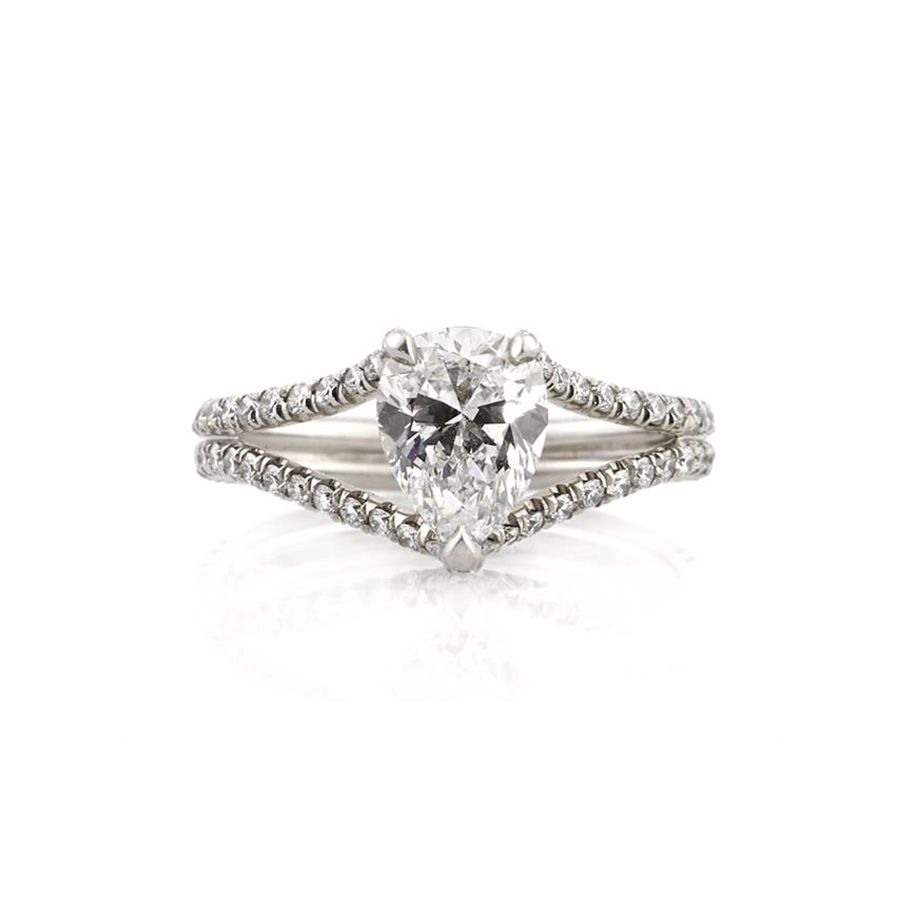 Mark Broumand 1.98ct Pear Shaped Diamond Engagement Ring